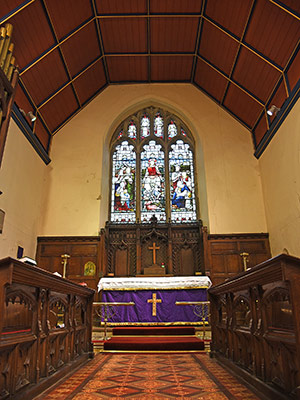 The chancel of St Thomas a Becket parish church, Lewes