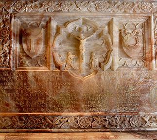 Marble memorial at St Thomas a Becket parish church in Lewes