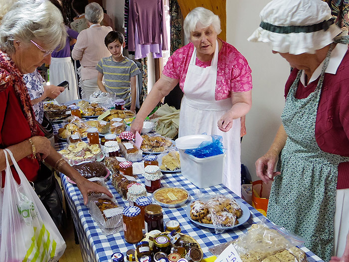 A Rush For Home-made Cakes And Preserves