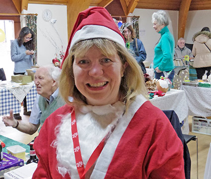 Lewes MP Maria Caulfield (alias Mrs Santa) Visited The Fair