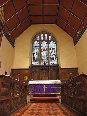 The chancel of St Thomas a Becket parish church, Lewes