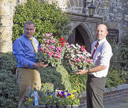 Flowers Generously Donated To St Thomas At Cliffe Parish Church, Lewes By Paradise Park Garden Centre In Newhaven
