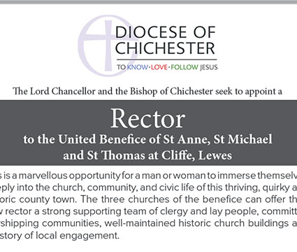 Advert For A New Rector Of Lewes